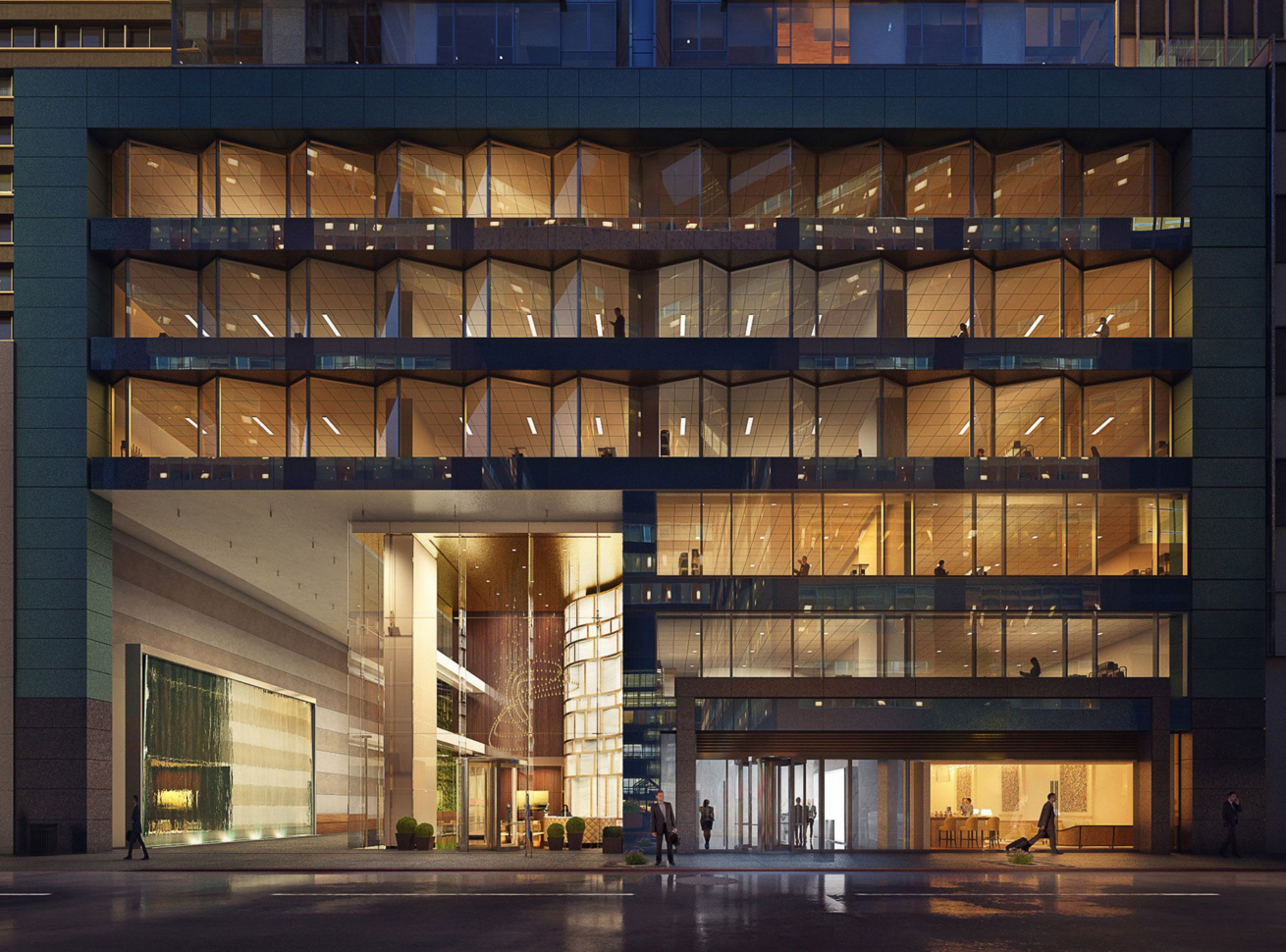 Marble Green Commercial Building Exteriors : Thin stone panels facades curtain walls cladding