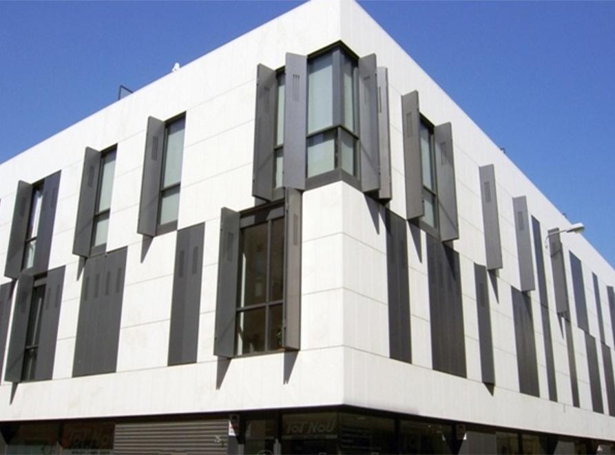 Front In Aluminium Panel Facades : Thin stone panels facades curtain walls cladding