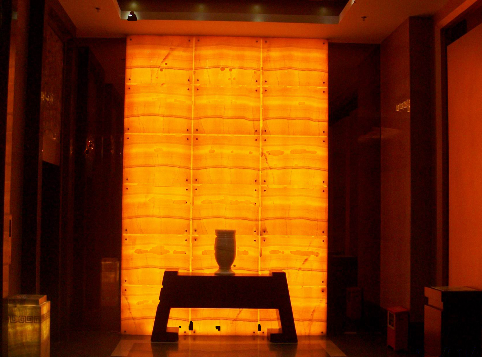 Thin Stone Panels Backlit Onyx Semi Precious